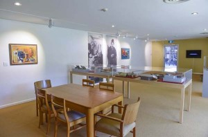 The Penrith Regional Gallery's Modernist Research Centre displaying selected artwork and archival material from the Gallery collection titled: Margo and Gerald (photo by Adam Hollingworth)