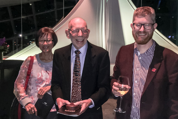 Georgia Lowe, Bil Vernon and Paul Rowe at the Auckland Museum Medals ceremony