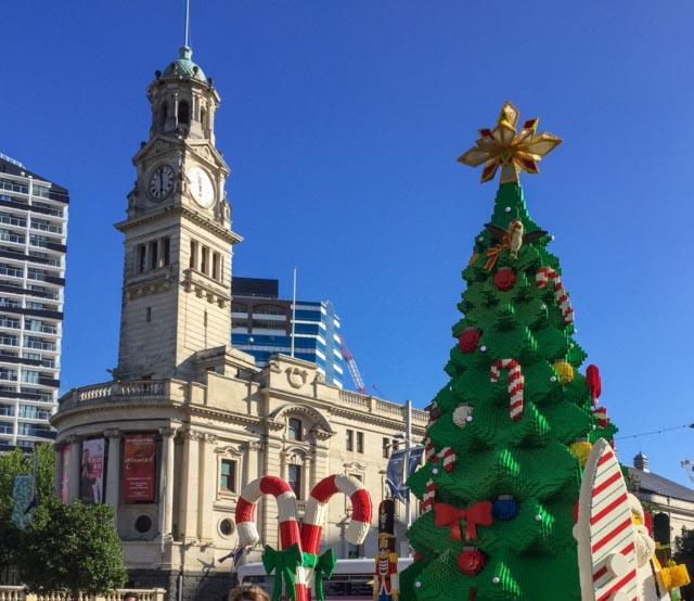 Lego Christmas tree - Aotea Square, Auckland