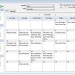 Version 10 - calendar view