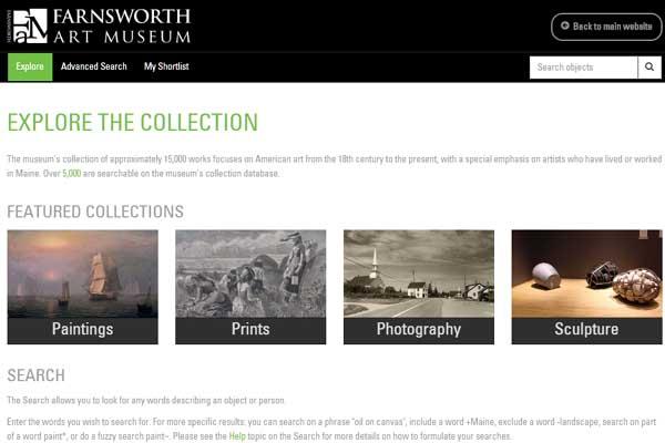 The new Farnsworth Art Museum collection microsite - Vernon