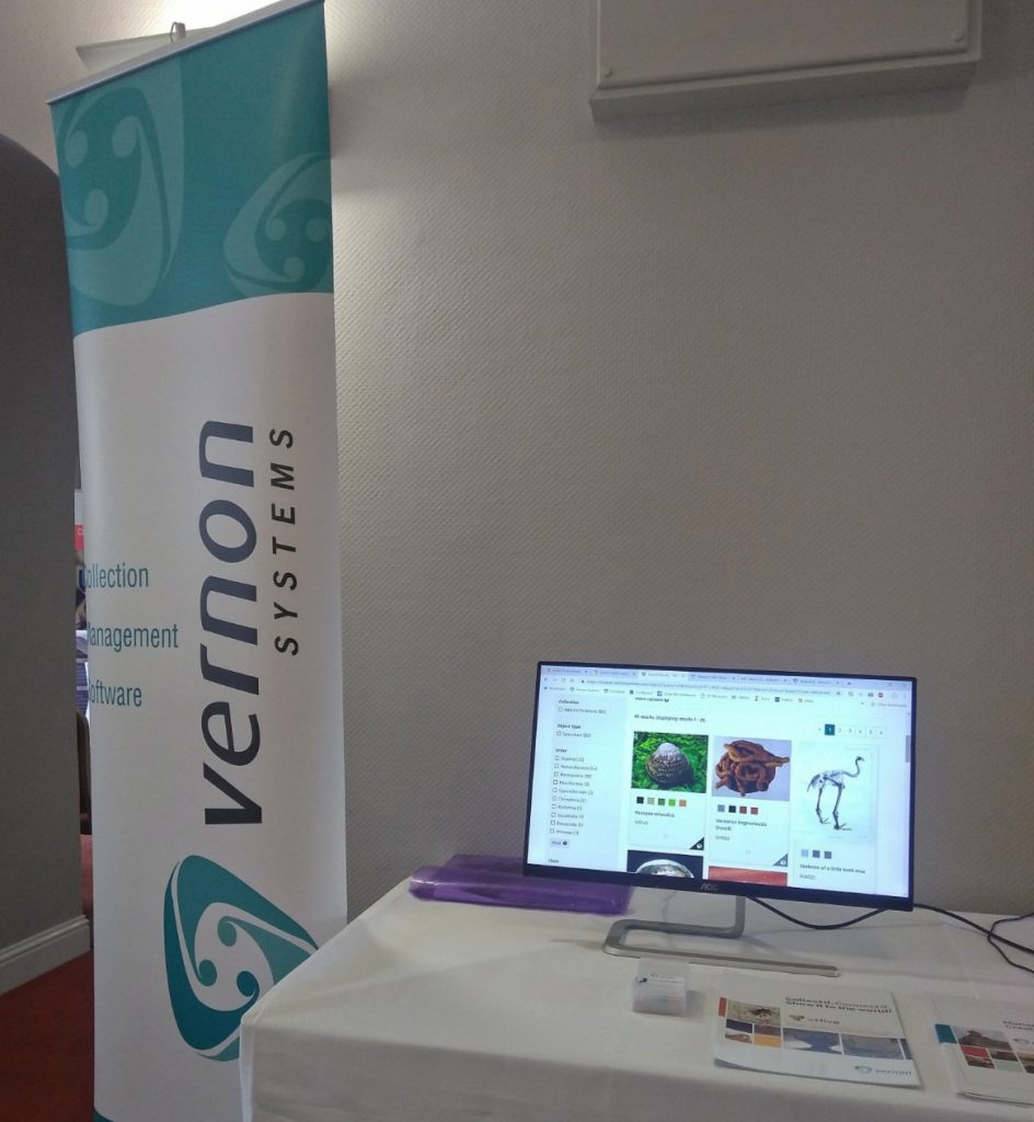 Vernon Systems trade stand at the NatSCA conference, 2019