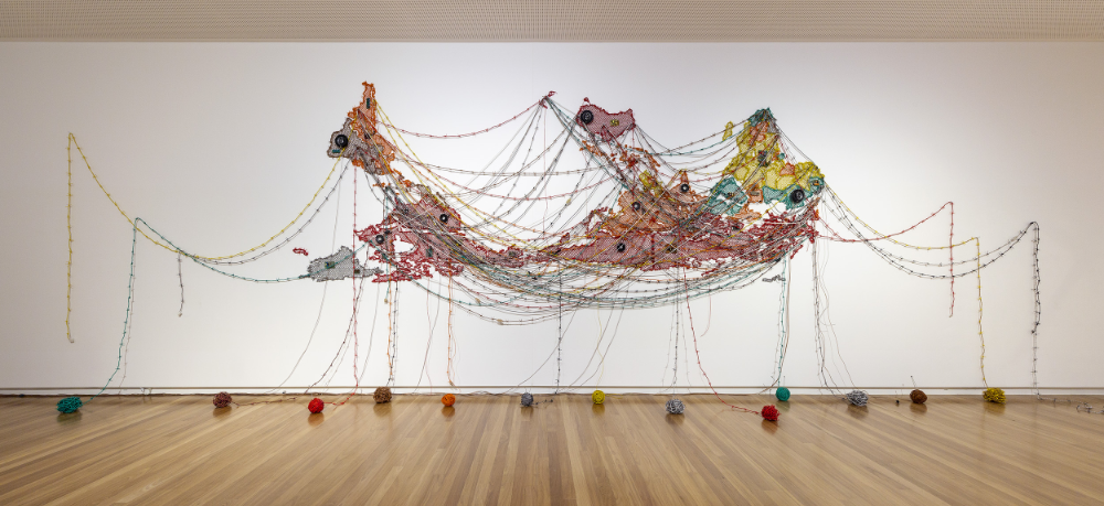 Reena Saini Kallat - Installation view of 'Woven Chronicle'