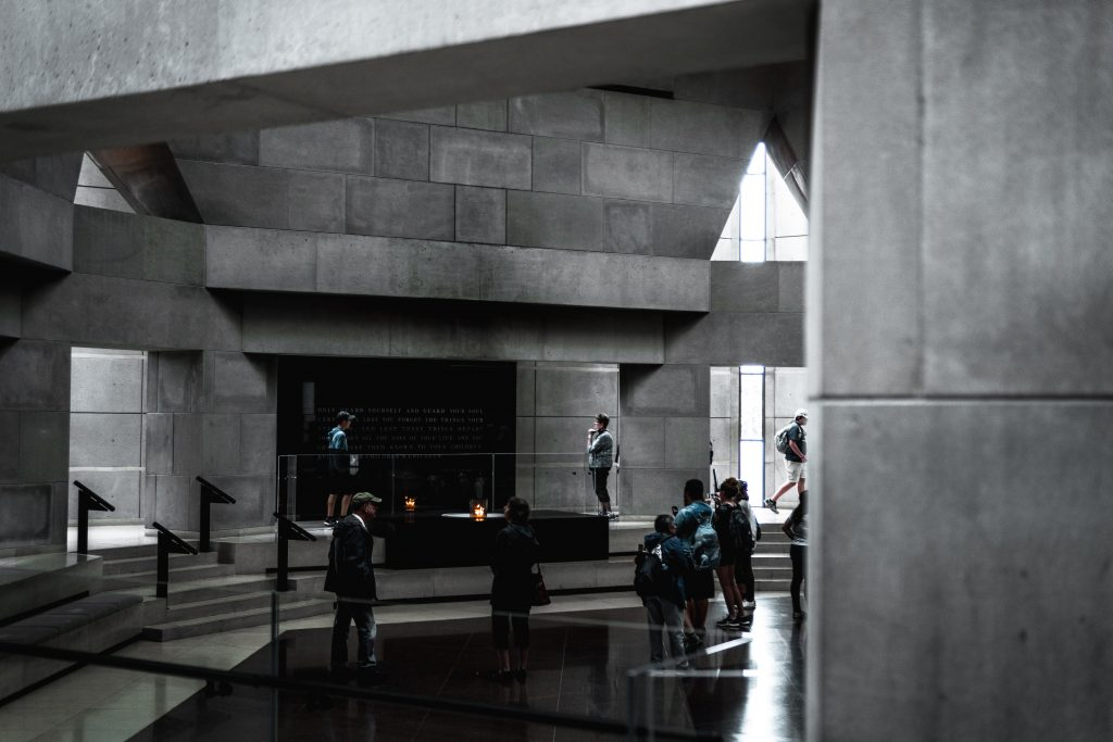 Concrete interior with steps and audience. Photo by Yuvraj Singh on Unsplash