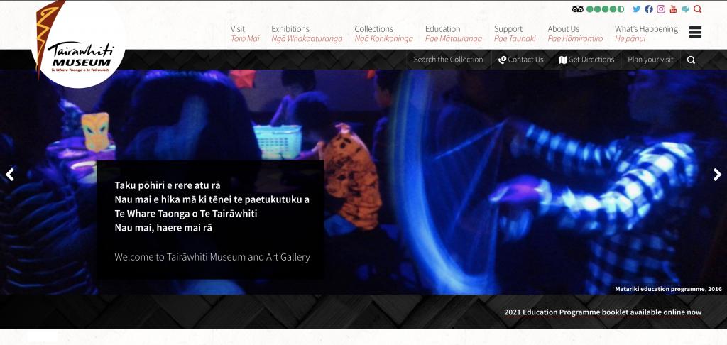 Tairawhiti Museum main website homepage
